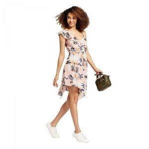 NWT A New Day Print Sleeveless Wrap Dress XL Pink